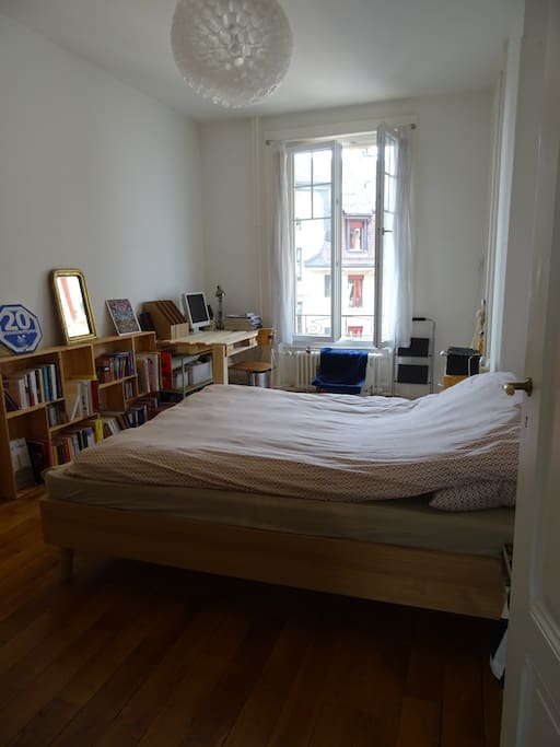 The bedroom with the comfy bed.
