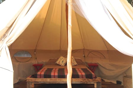 Flax Bush Tent beachfront glamping - Yurt