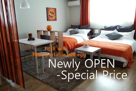 It's NEW! Click my other Studio with all Good Reviews https://www.airbnb.co.kr/rooms/3258935?preview  - Very Center of Seoul, Best access all by KTX,AREX,Subway,Bus,Taxi - Free Wifi, Free portable wifi, Big Lotte Mall,Mart,24CVS