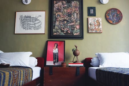 A Home in An Art Space : Twin Room - Ubud
