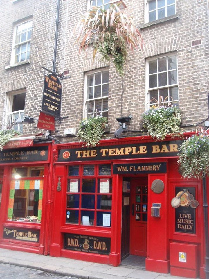 The building is THE Temple Bar ;-)