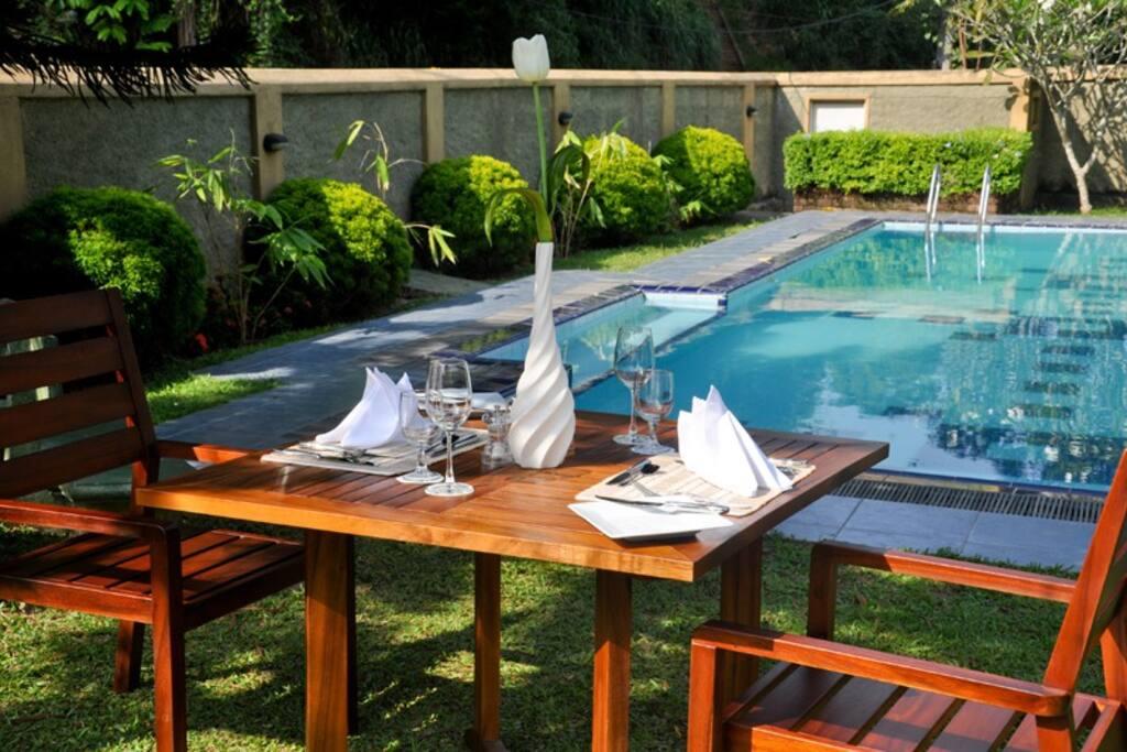 Poolside Fine dining....
