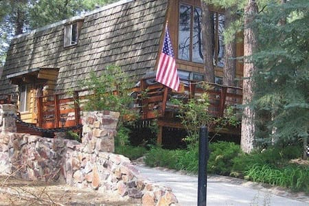 Big Bear Cabin Nestled Among Trees