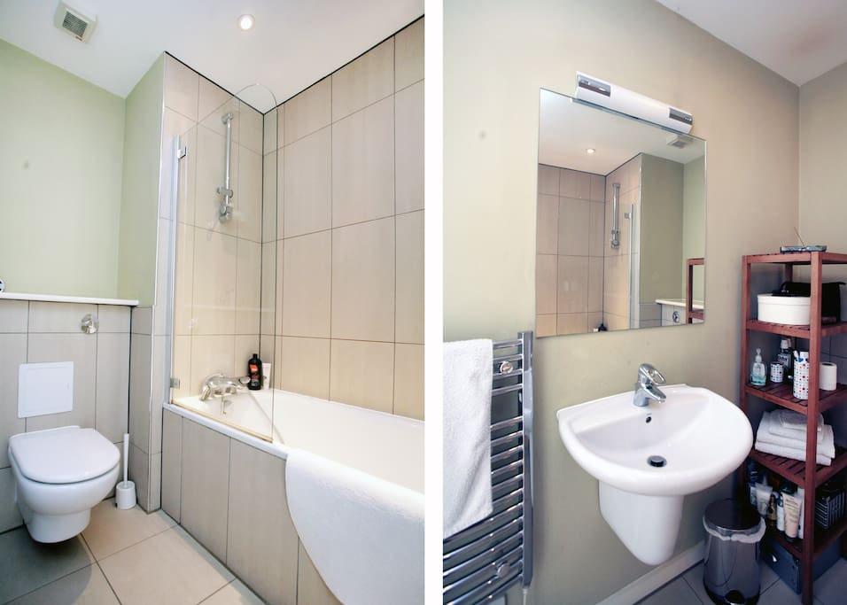 Shared bathroom (shampoo / conditioner / shower gel provided. Hair dryer available / shared)