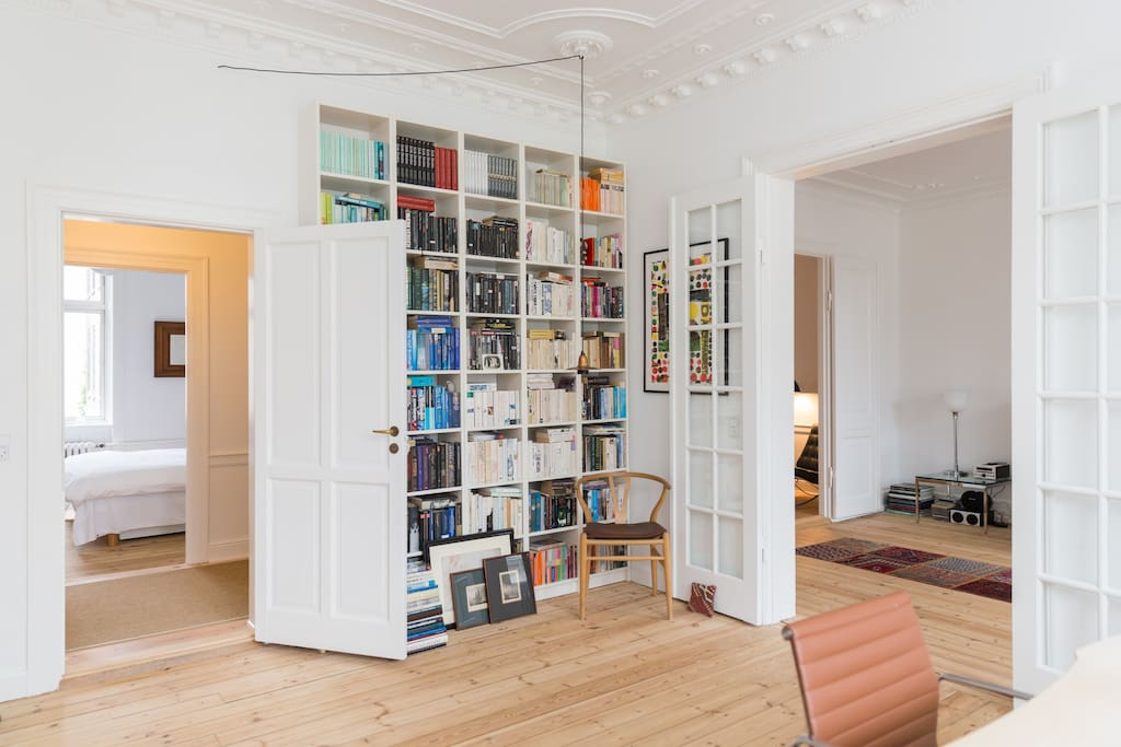 The office is a central room in this flat.