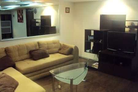 Apartment in the south of Mexico City, in a secure location with a private security sevice and CCTV It has 2br, 1bathroom with whirlpool tub. Wooden and marble floors, and a nice open kitchen. Internet service and cable TV. Coffe maker, security box.