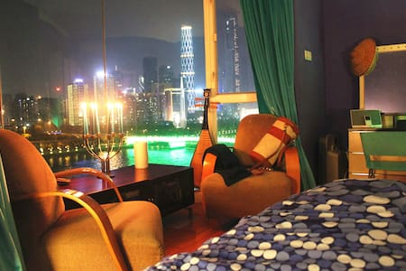 180° River View near Canton Tower - Appartement
