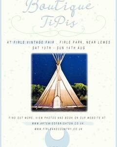 Tipi boutique camping Firle place - Tipi