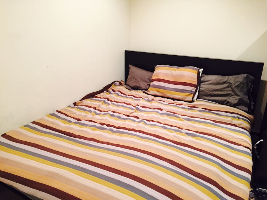 Bedroom with fresh beddings and linens prepared just for you