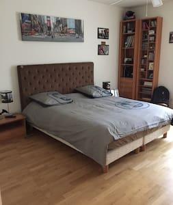 Chambre lit 160 tv et salle de bain - Pension