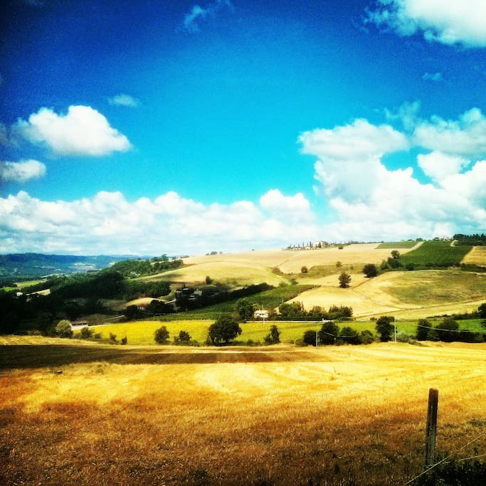 Our beautiful Umbrian valley.