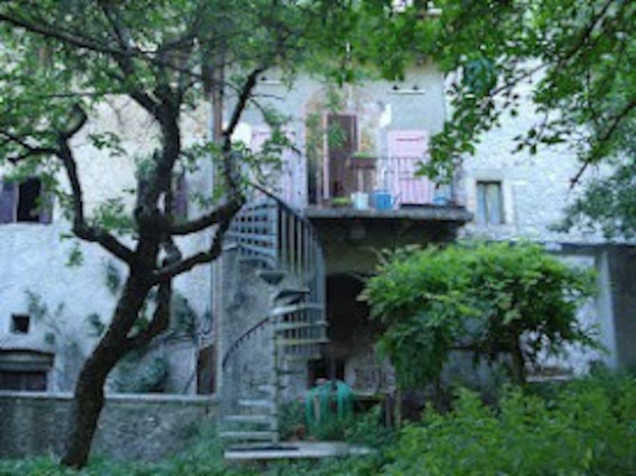 Garden, Stair from Veranda