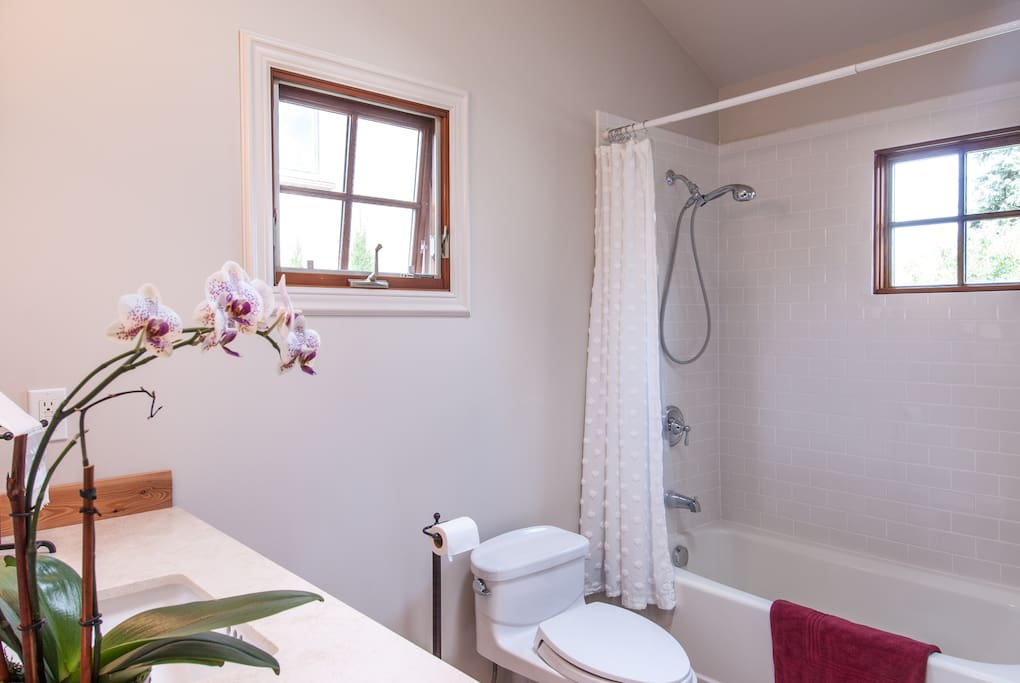 Bright and clean full bathroom
