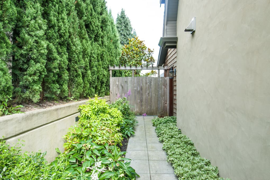 Walkway to private entrance