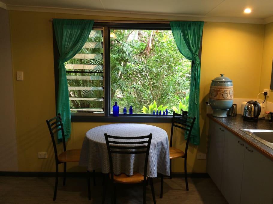 Garden view from kitchen.