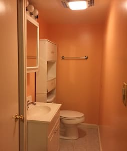 1BR basement apt with LR,  private bath & kitchen - Byt