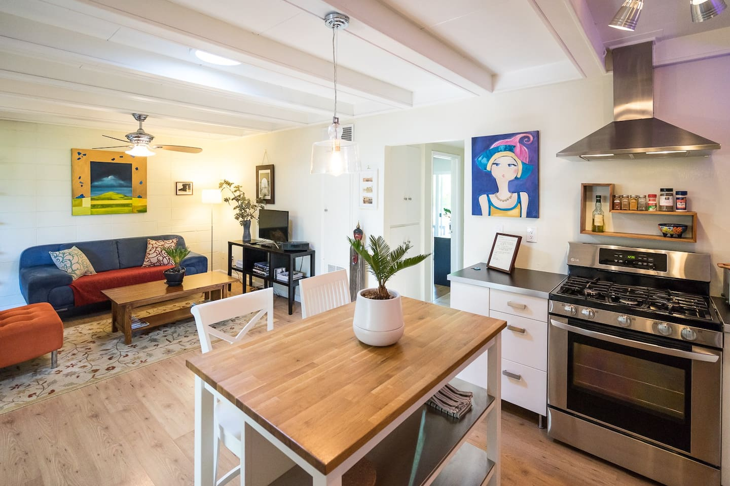 Colorful, eclectic and full or original are. This modern updated condo is built for your comfort.