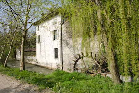 Water mill in the country - House