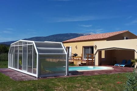 Villa 84 sqm heated pool with cover - Hus