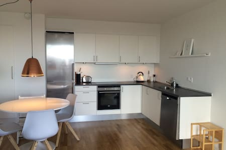 This apartment is perfect for a small family with children - contains 1 double bed and a cot. The apartment is 3 min. foot from Herlev station where you can take the train to Copenhagen city center in 20 minutes.