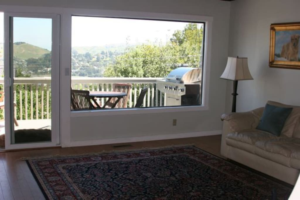 Large picture window in the living room