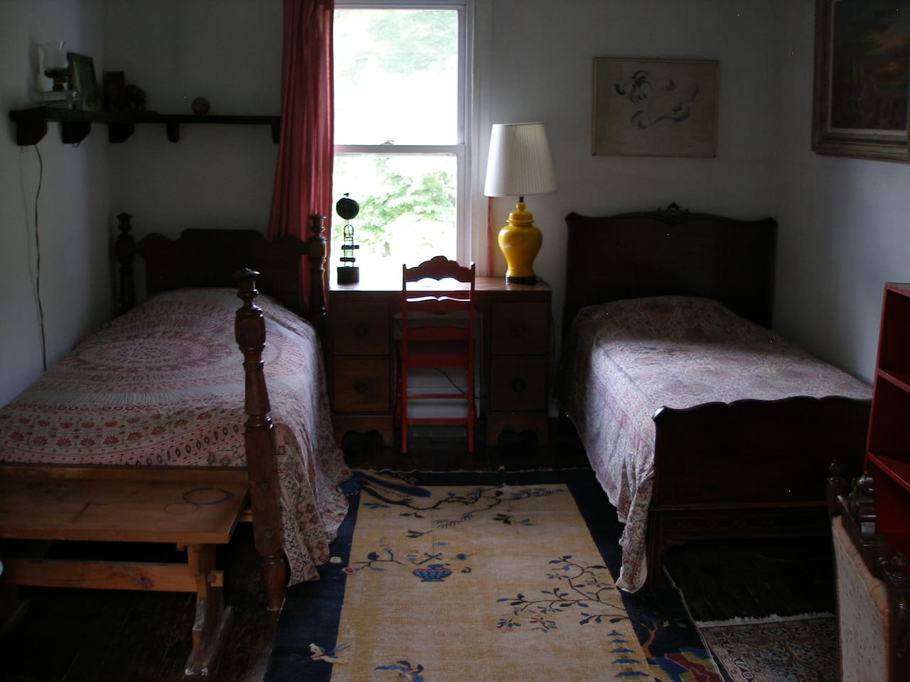 This bedroom has 2 twin beds. The cost is $70 per bed per night.