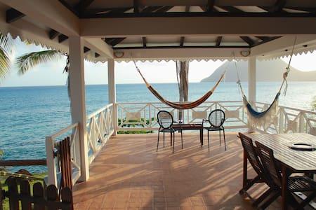 Caribbean house on the sea - Le Diamant - Casa