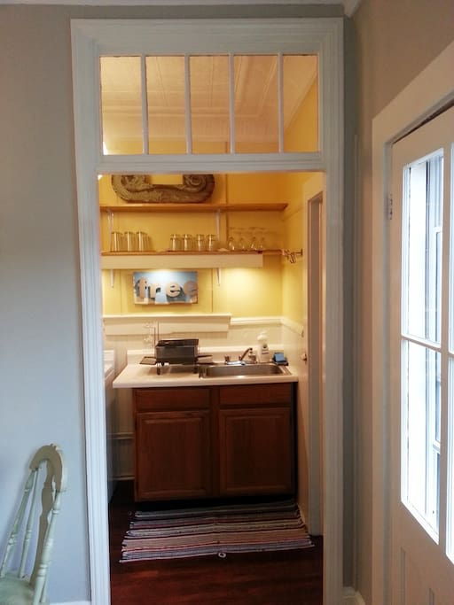 View into Kitchen from Living room/dining room