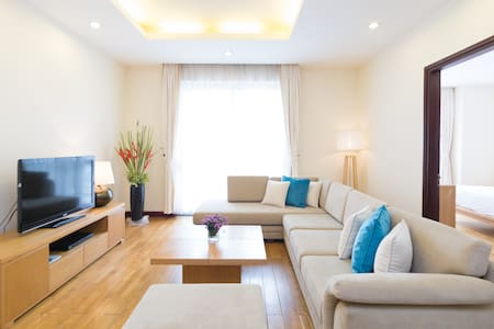 Atlanta Residences is located at 49 Hang chuoi str., in the centre of Hanoi. Two bedrooms apartment 120sqm, fully furnished with services that will bring you the most comfortable environment when living with us, with the most hospitable management.