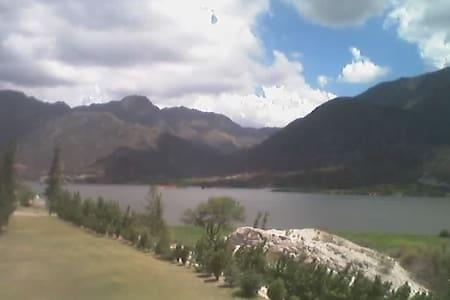 Lake in La Rioja Argentina - Cabin