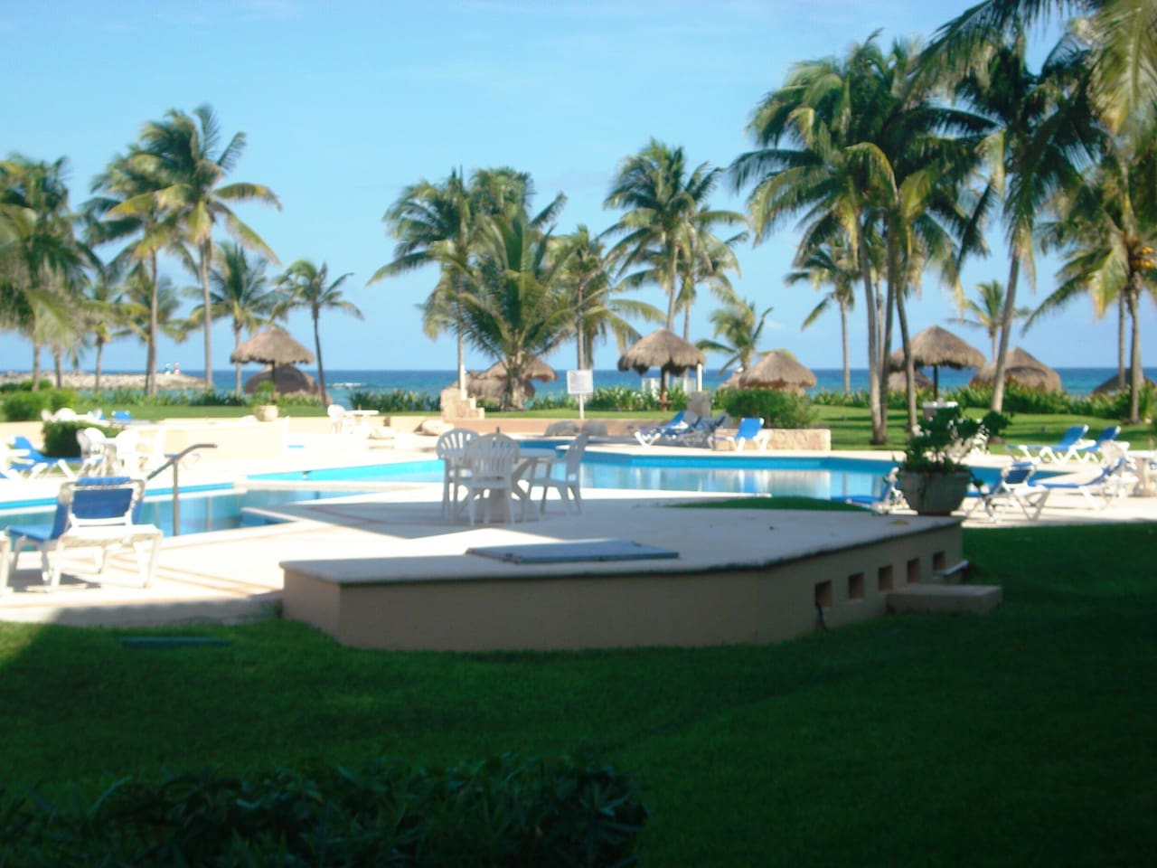 View to pool and Caribbean Sea!!