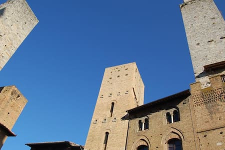In the main square of San Gimignano