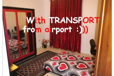 LOVELY room+TRANSPORT from airport
