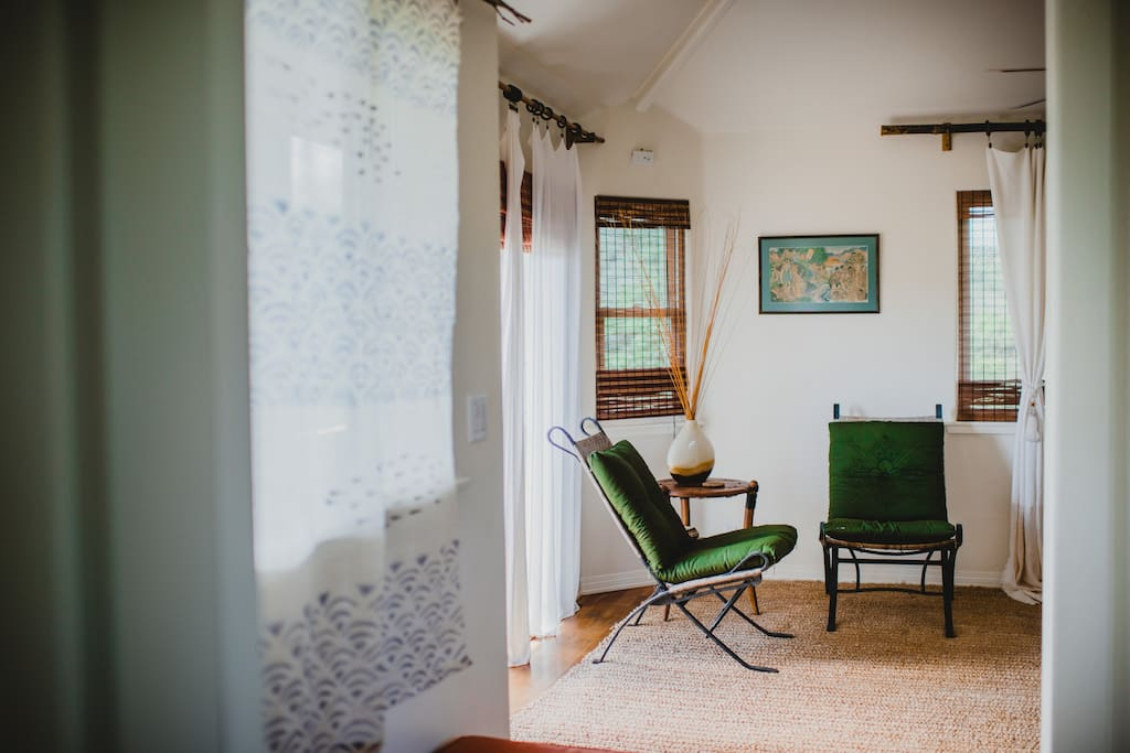 A reading nook to catch up on that book you've been meaning to read, or plan your next adventure