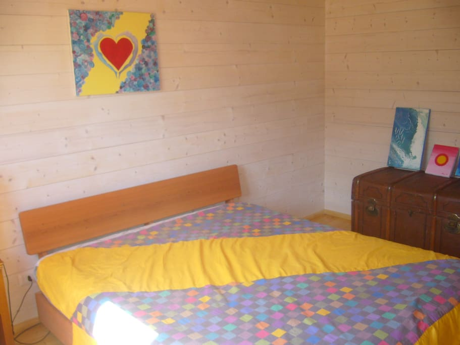 The yellow bedroom, downstairs.