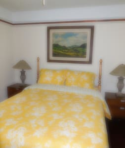 Private room with bath near downtown - Huis