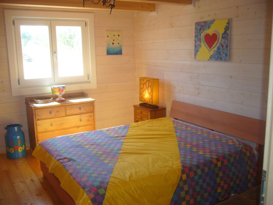 The yellow bedroom. Downstairs.