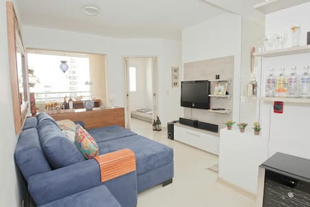 My 1&1/2 bedroom apartment in the middle of Pinheiros neighborhood is in one of the best locations in Sao Paulo; being 3 blocks from the metro, 2 blocks from a grocery, and on a street with no exit. Modern and clean; this apartment is calm and cozy.