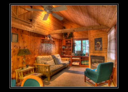 ComfyLog Cabin, In the Woods and On the Lake, LOOK - Traverse City - Cabana