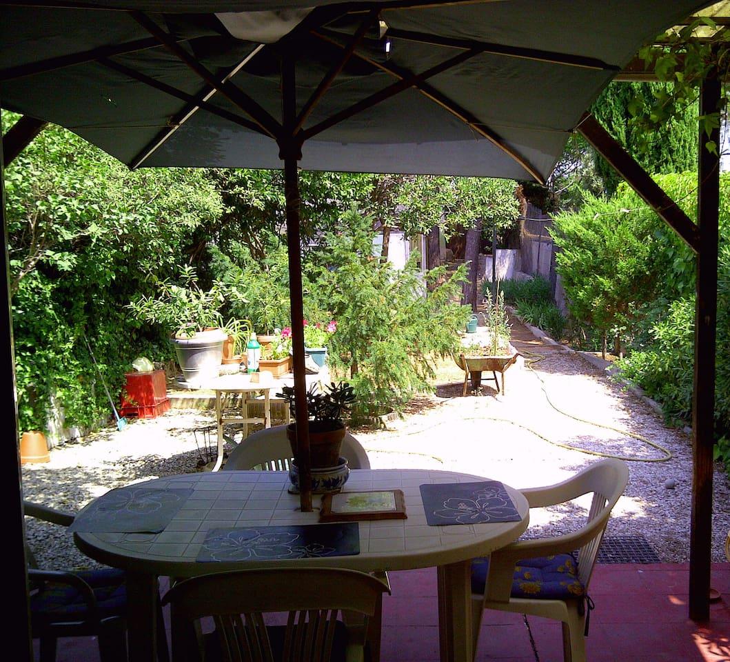 Back garden and terrace