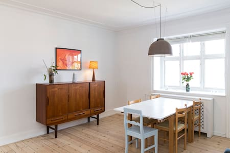 My bright and cosy two bedroom appartment is placed at the wonderfull Frederiksberg