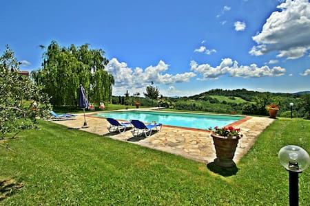 Stone built house in Tuscany with pool - Belforte - Hus
