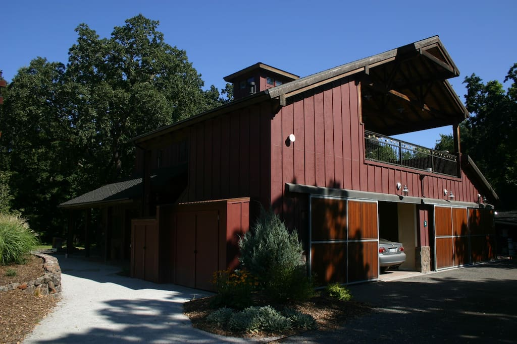 This is the front of the barn...the terrace above has views of horses and rolling vineyards.