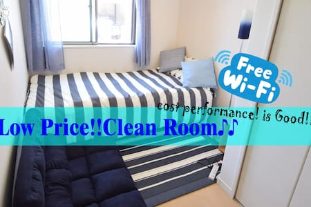 01★New Open Blue room♪namba,shinsaibashi near!!! - Apartemen