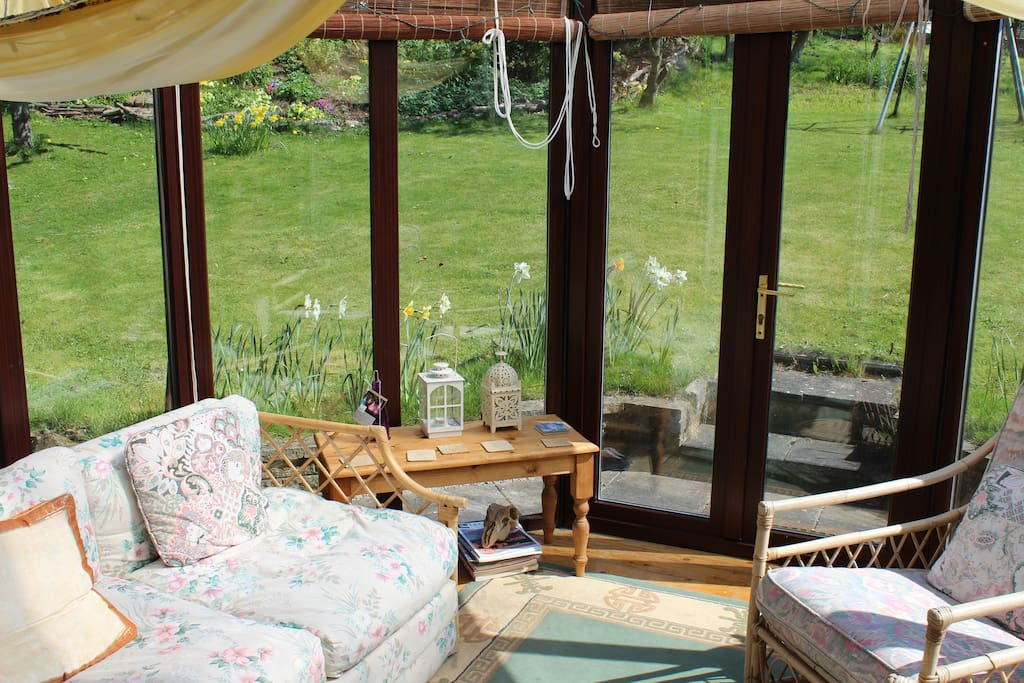 conservatory - relax in here when the sun shines!