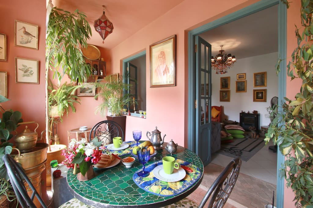 A pleasant room in Marrakech,