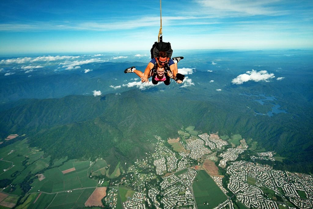Skydiving over Cairns