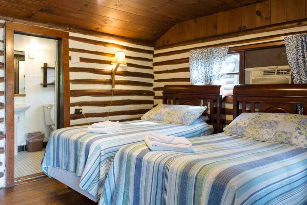 Two twin beds