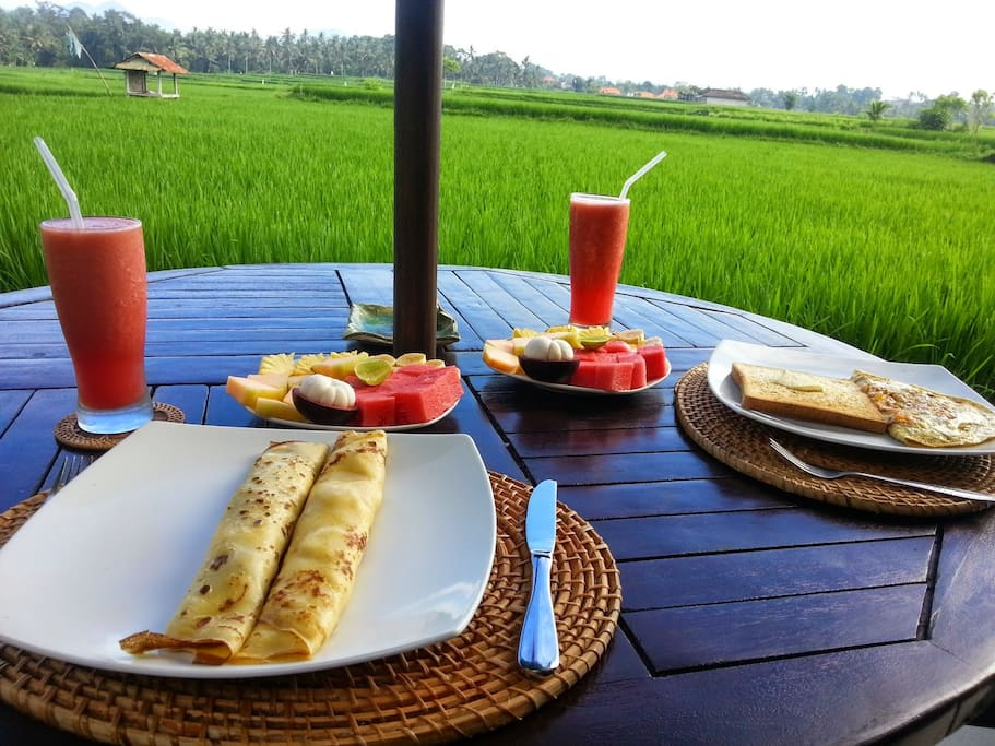 Delicious breakfasts made to order each morning - enjoy in the privacy of your own private deck