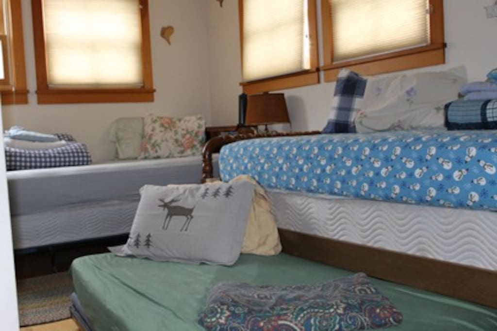 Downstairs Family Room - 3 single beds. ~ $95/night